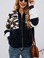 cheap -Women's Daily Pullover Sweatshirt Camouflage Casual Hoodies Sweatshirts  Black Royal Blue