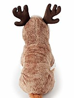 cheap -santa elk dog costume christmas pet hoodie coat clothes dog pet clothing winter autumn fit for puppy dog teddy chihuahua yorkshire poodle maltese puppy pug