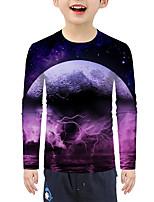 cheap -Kids Boys' Active Basic 3D Print Long Sleeve Blouse Purple