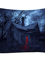 cheap -Halloween Party Wall Tapestry Art Decor Blanket Curtain Picnic Tablecloth Hanging Home Bedroom Living Room Dorm Decoration Pychedelic Haunted cary Houe Forret Polyeter