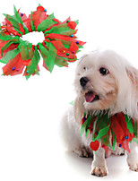 cheap -Dog Bandanas & Hats Voiles & Sheers Casual / Daily Cute Christmas Party Dog Clothes Breathable Red Costume Polyster S M L / Halloween