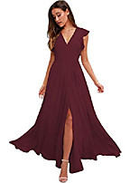 cheap -bridesmaid dresses formal dresses for women long evening gowns with slit 4 burgundy