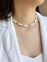 cheap -Women's Choker Necklace Necklace Handmade Precious Dainty Simple Luxury Trendy Imitation Pearl Glass Alloy White 38 cm Necklace Jewelry 1pc For Wedding Gift Prom Birthday Party Festival