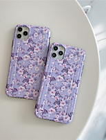 cheap -Case For Apple iPhone 11 / iPhone 11 Pro / iPhone 11 Pro Max IMD / Frosted / Pattern Back Cover Flower TPU