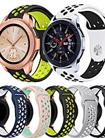 cheap -Sport Silicone Watch Band for Samsung Galaxy Watch 42mm 46mm / Galaxy Active 2 40mm 44mm / Gear S3 Classic Frontier / Gear Sport / Gear Classic / Gear 2 R380 R381 R382 Replaceable Bracelet Wrist Strap