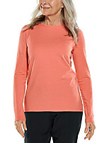 cheap -upf 50  women& #39;s morada everyday long sleeve t-shirt - sun protective & #40;x-small- melon& #41;
