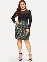 cheap -Women's Basic Above Knee Skirts Geometric Print