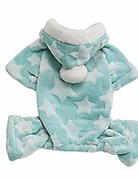 cheap -small dog pajamas,warm cute star print fleece hoodie pajamas jumpsuit coat for small dog