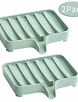 cheap -2pack soap dishes waterfall, soap trays with drain, self draining soap saver, soap holders for bathroom and kitchen (green)