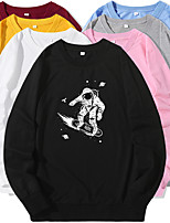 cheap -Women's Sweatshirt Artistic Style Crew Neck Cartoon Sport Athleisure Pullover Long Sleeve Warm Soft Oversized Comfortable Everyday Use Causal Exercising General Use