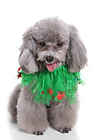 cheap -Dog Halloween Costumes Bandanas & Hats Stars Casual / Daily Cute Christmas Party Dog Clothes Breathable Green Costume Polyster S M L