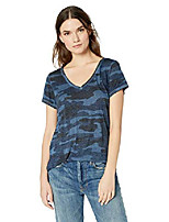cheap -women& #39;s camo burnout tee shirt, mellow rose, x-small