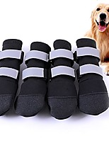cheap -large big dog sport shoes winter waterproof pet dog puppy boots non-slip pitbull golden retriever rain shoes (l, black)