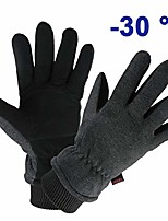 cheap -cycling gloves deerskin leather winter warm glove thermal fleece for snow skiing driving bike riding hiking runing hand warmer in cold weather for women and men large gray