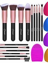 cheap -16pcs makeup brushes set, 4pcs beauty blender sponge set and 1 brush cleaner, premium synthetic foundation brushes blending face powder eye shadows make up brushes kit