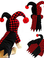 cheap -pet costume, funny pet hooded clown costume for small dogs & cats halloween party cosplay