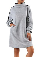 cheap -Women's Sweatshirt Womens Pullover Sweatshirts Blue Side-Stripe Stand Collar Fleece Stripes Sport Athleisure Pullover Long Sleeve Warm Soft Comfortable Everyday Use Causal Exercising General Use