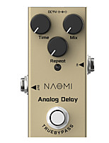 cheap -NAOMI Electric Guitar Analog Delay Time/Mix/Repeat Knob NEP-10 DC 9V True Bypass Guitar Effect Pedal