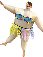 cheap -Hula Dancer Cosplay Costume Inflatable Costume Funny Costume Adults' Men's Cosplay Halloween Halloween Festival / Holiday Fabric White Men's Women's Easy Carnival Costumes