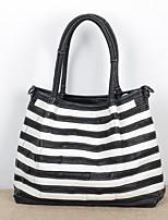 cheap -Women's Bags Cowhide Top Handle Bag Zipper for Daily Black / White / Black / Rainbow