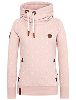 cheap -Women's Womens Hoodie Hoodies Pullover Hoody Blue Pink Artistic Style Stand Collar Fleece Solid Color Sport Athleisure Pullover Long Sleeve Warm Soft Comfortable Everyday Use Exercising General Use