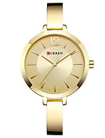 cheap -CURREN Women's Quartz Watches Quartz Modern Style Stylish Casual Water Resistant / Waterproof Stainless Steel Silver / Gold / Rose Gold Analog - Rose Gold Golden+White Red One Year Battery Life