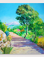 cheap -IARTS Hand Painted Rural road Oil Painting with Stretched Frame For Home Decoration With Stretched Frame