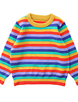 cheap -Kids Boys' Basic Striped Solid Colored Print Long Sleeve Blouse Blue