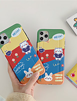 cheap -Case For Apple scene map iPhone 11 11 Pro 11 Pro Max back shape private model series cartoon bear pattern TPU material IMD craft fine matte phone case