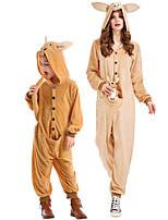 cheap -Animal Cosplay Costume Group Costume Kid's Adults' Women's Cosplay Halloween Halloween Festival / Holiday Plush Fabric Orange Women's Easy Carnival Costumes / Leotard / Onesie / Leotard / Onesie