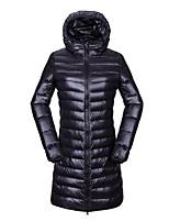 cheap -Women's Hiking Down Jacket Padded Hiking jacket Hiking Windbreaker Winter Outdoor Solid Color Thermal Warm Thermal Waterproof Windproof Jacket Hoodie Winter Jacket Nylon Down Double Sliders Full
