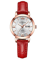 cheap -Women's Quartz Watches Quartz Modern Style Stylish Casual Water Resistant / Waterproof Genuine Leather Analog - White+Red Black Red