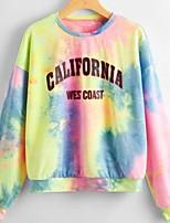 cheap -Women's Sweatshirt Graphic Casual Hoodies Sweatshirts  Blue Blushing Pink