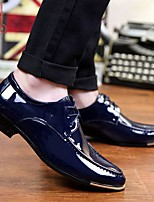 cheap -Men's Fall / Winter British Daily Oxfords PU Black / Silver / Black / Blue