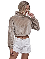 cheap -Women's Sweatshirt Minimalist Cowl Neck Solid Color Sport Athleisure Pullover Long Sleeve Warm Soft Oversized Comfortable Everyday Use Causal Exercising General Use