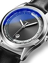 cheap -YAZOLE Men's Sport Watch Quartz Formal Style Stylish Casual Water Resistant / Waterproof PU Leather Black / Brown Analog - White+Blue Black Black / Brown