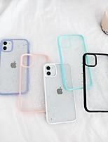 cheap -Case For Apple iPhone SE 2020 iPhone 11 Pro Max XS Max XR X 7 8 Plus 6 6s Plus Transparent Back Cover Glitter Shine TPU