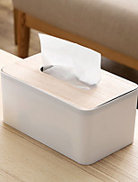 cheap -Solid Wood Cover Tissue Box Living Room Creative Paper Pumping Household European-style Simple Napkin