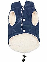 cheap -warm dog winter coat, cozy cold weather dog jacket, soft warm windproof puppy vest clothes for small medium dogs,blue