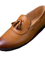 cheap -Men's Spring / Fall Daily Loafers & Slip-Ons PU Black / Brown