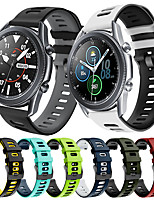 cheap -Sport Silicone Watch Band for Samsung Galaxy Watch 3 45mm 41mm / Galaxy Watch 46mm 42mm / Gear S3 Classic Frontier / Galaxy Active 2 40mm 44mm / Gear Sport / S2 Classic Bracelet Wrist Strap Wristband
