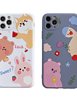 cheap -Case For iphone 7 8 7p 8p X XS MAX XR 11 11 PRO 11 PRO MAX   Pattern Back Cover Word  Phrase TPU cute