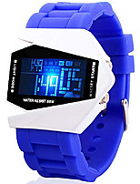 cheap -fanmis unisex elegant plane style digital display waterproof outdoor sports silicone strap led wrist watch litbwat