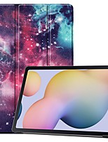 cheap -Case For Samsung Galaxy Tab S7 plus T970 Tab S7 T870 Tab A7 2020 T500 with Stand Flip Ultra-thin The Milky Way Nebula PU Leather Case for Samsung Tab S6 Lite (SM-P610)  Tab A 8.4 (2020) Tab S6 SM-T860
