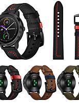 cheap -22mm Leather Watch Band for Garmin Vivoactive 4 / Fenix Chronos Replaceable Bracelet Wrist Strap Wristband