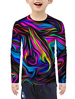 cheap -Kids Boys' Active Basic 3D Print Long Sleeve Blouse Rainbow