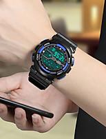 cheap -Men's Digital Watch Digital Sporty Classic Chronograph Digital White Black Blue / Rubber / Luminous / Noctilucent / Large Dial
