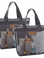 cheap -2 pack mesh shower caddy quick dry tote bag portable lightweight hanging toiletry and bath organizer with zipper for college dorms gym swimming beach travel sports games