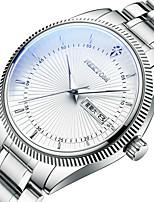 cheap -NEKTOM Men's Steel Band Watches Quartz Sporty Stylish Casual Water Resistant / Waterproof Analog - Digital Black / Silver White+Blue Black+Gloden / Stainless Steel / Japanese / Calendar / date / day