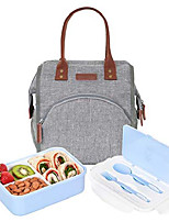 cheap -bunnyslope insulated lunch bag and bento box with 3 leakproof compartments for adults and kids pink